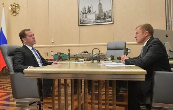 Дмитрий Медведев провел рабочую встречу с президентом «ОПОРЫ РОССИИ» Александром Калининым