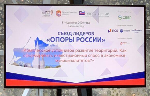 Сергей Лапенко выступил на Съезде лидеров «ОПОРЫ РОССИИ» в Калининграде